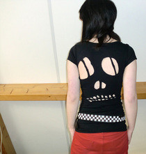 Skull Cut Out Shirt