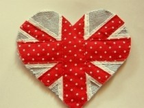 Union Jack Heart Patch