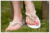 Beaded Flip Flops Diy