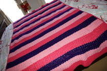 Fancy Crocheted Blanket/Rug