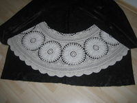 How to make a high-waisted skirt. Lace Skirt Out Of Granny´S Tablecloth - Step 2