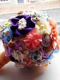Ribbon Bridal Bouquet