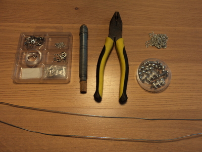 How to make a chain earring. Chained Ear Cuff - Step 1