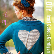 Heart Cutout Cardigan
