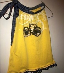 Girl's Bicycle Dress From T Shirt