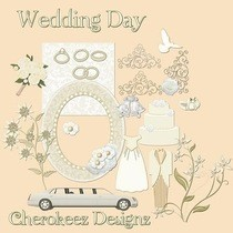 Digital Wedding Scrapbooking Kit