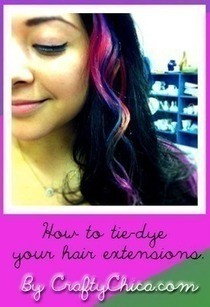 Tie Dye Hair Extensions