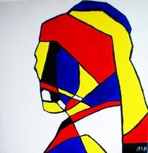 Abstract De Stijl Portrait