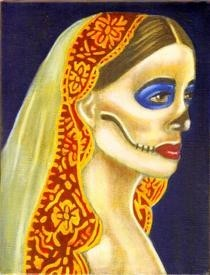 Day Of The Dead Muerta Oil Painting