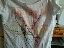T Shirt With Splatter Paint Design