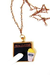 Cinema Chalkboard Necklace
