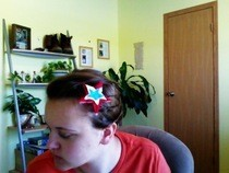 Stars And Stripes Hair Tutorial + Diy Star Hairclip :)