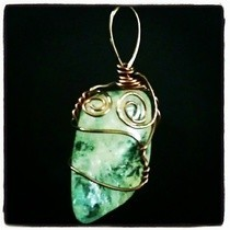 Crackle Quartz Wire Wrapped Pendant