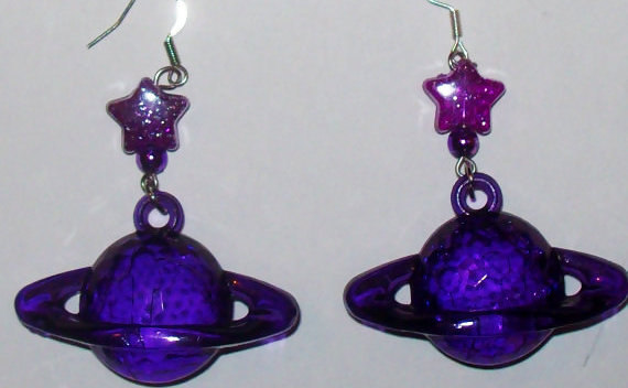 Star And Saturn Earrings
