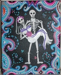 Day Of The Dead Wedding Couple 2