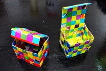 Magazine Woven Box With Lid