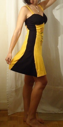 Two Color Tee Dress