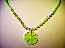 Fresh Summer Lime Necklace