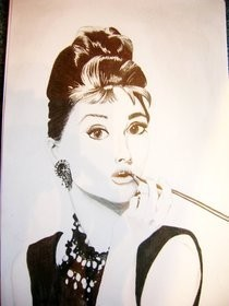 Drawing Audrey Hepburn