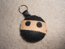Ninja Plushie Keychain