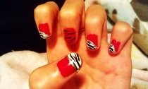 Red Zebra Nails
