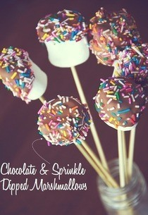 Chocolate & Sprinkle Covered Marshmallows
