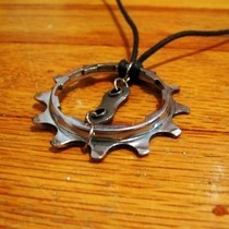 Recycled/Upcycled Bike Gear Pendant Necklace