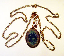 Mother Earth   Copper Pendant Necklace