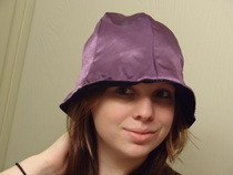 Reversible Black & Purple Hat