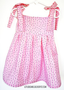 Pink Striped Toddler Dress
