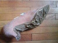 How to make a heel / wedge shoe. Refashioning Your Shoes - Step 14
