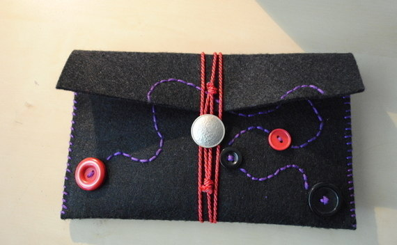 Felt Pouch With Buttons