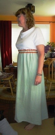 Old Shirt/ Blanket Maxi Dress