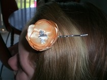 Satin Flower Hair Pin
