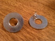 Washer Post Earrings