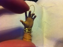 Little Tiny Braceletted Hand Charm