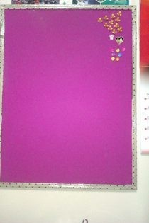 Purple & Polka Dots   Rejuivinated Builliten Board