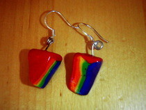 Polymer Rainbow Cake Earrings