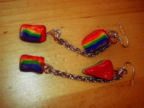 Rainbow Cake Earrings 2, Dangles