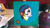Sugar Skull Gypsy Head