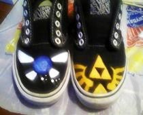 Legend Of Zelda: Re Painted Vans :D