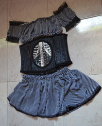 Steampunk Skirt And Top For A Corset