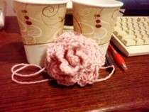 My First Crochet Rose