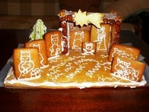 Nativity Scene From Gingerbread
