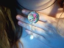 Zombie Girl Bottle Cap Necklace/Choker.