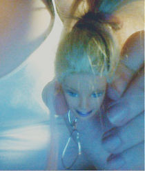 Barbie Doll Head Keychain.