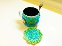 Crochet Mug Cozy &amp; Coaster