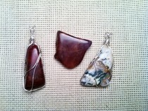 Wire Wrapped Rock Pendants