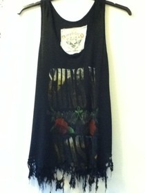 Cobweb Spiderweb Distressed Vest Top T Shirt!!