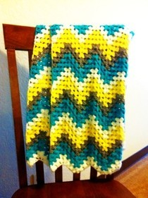 Chevron Granny Stitch Baby Blanket